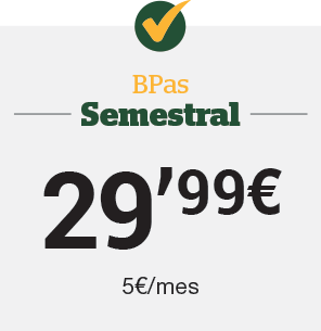 Bpas Semestral 29,99€ (5 €/mes)