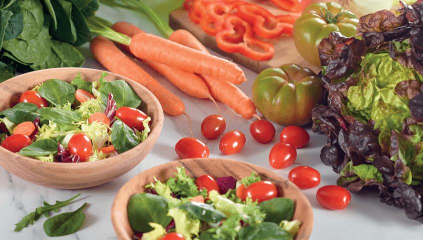 Dona color als teus plats amb hortalisses fresques