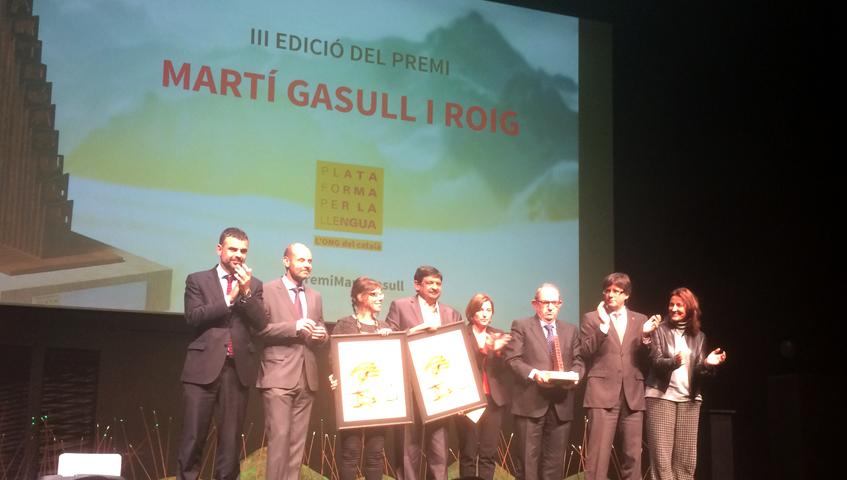 Bonpreu i Esclat hem estat guardonats amb el III premi Martí Gasull organitzat per Plataforma per la Llengua