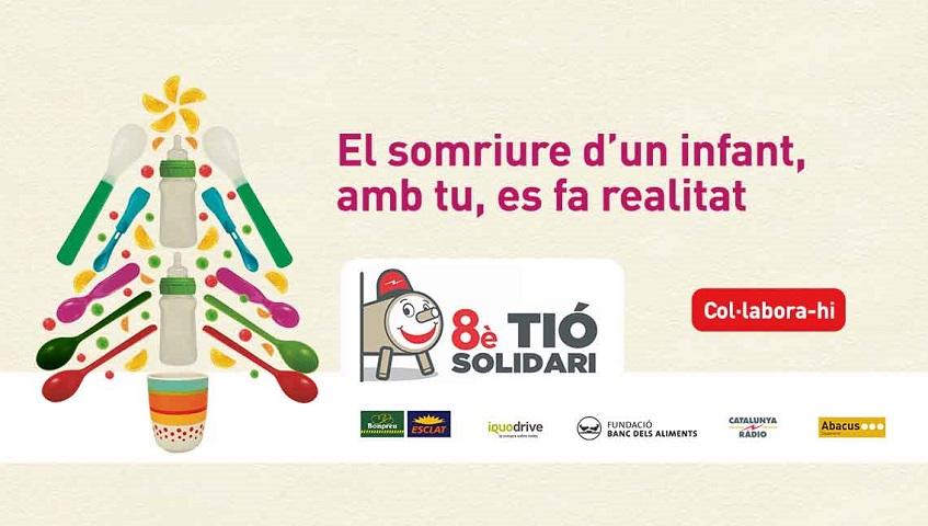 Torna el Tió Solidari amb aliments per a tots els infants