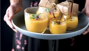 Recepta de crema freda de mango