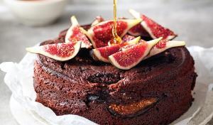 Pastís de xocolata amb figues