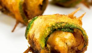 Recepte de carbassó farcit de bacó i llagostins