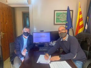 El Grup Bon Preu i l'ajuntament de Sarrià de Ter signen un conveni de col·laboració en el marc del procés de selecció de personal pel nou Esclat