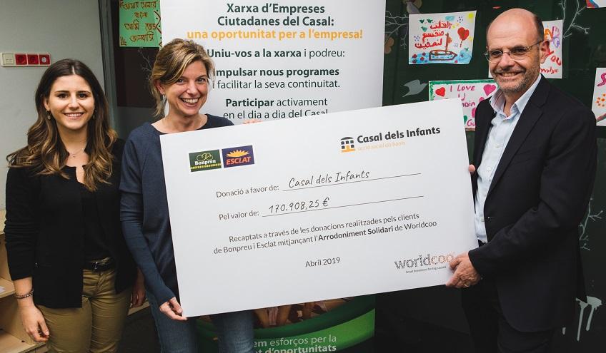 Els clients de Bonpreu i Esclat donen més de 170.000€ al Casal dels Infants