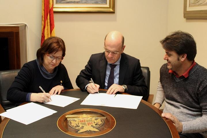 El Grup Bon Preu i l'Ajuntament de Tàrrega signen un conveni per a la recollida de minves