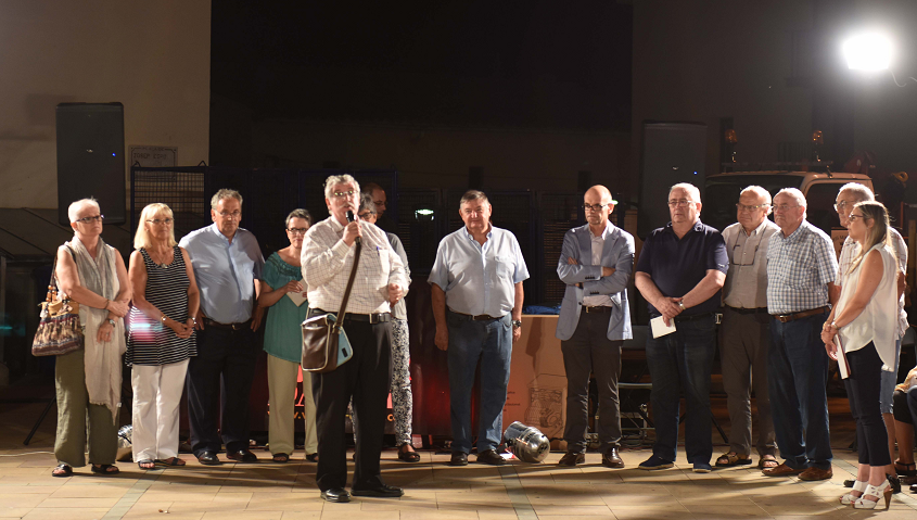 L'associació de Fidels de l'Ajuda i Amics de Balenyà, guanyadors dels concurs de projectes de les entitats de Balenyà, convocat per Bon Preu