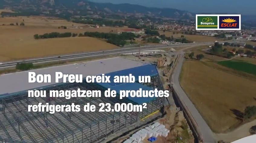 Vídeo resum de la inauguració del nou magatzem de productes refrigerats del Grup Bon Preu