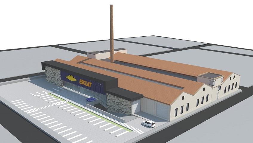 L'Esclat de Sabadell conservarà l'espai arquitectònic de valor patrimonial de la Fàbrica Llagostera-Sampere